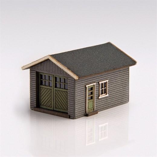 ArchiStories 426070-G - Single Garage Kit - Gray