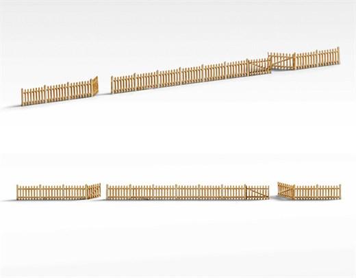 Archistories 810201 Picket Fence Kit White
