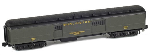 AZL 71618-1 BURLINGTON Baggage REA CB&Q #1534 Pull
