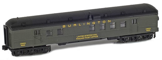 AZL 71918-2 BURLINGTON RPO UNITED STATES MAIL RAIL
