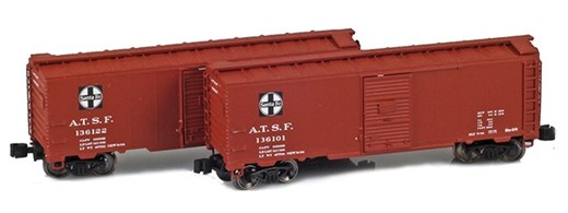 AZL 904370-1 ATSF 40 AAR Boxcar | 2-Car Set