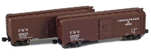 AZL 904372-1 C&O 40 AAR Boxcar | 2-Car Set