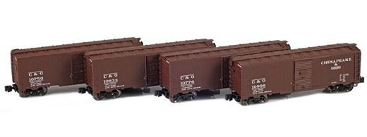AZL 914302-1 C&O 40 AAR Boxcar | 4-Car Set
