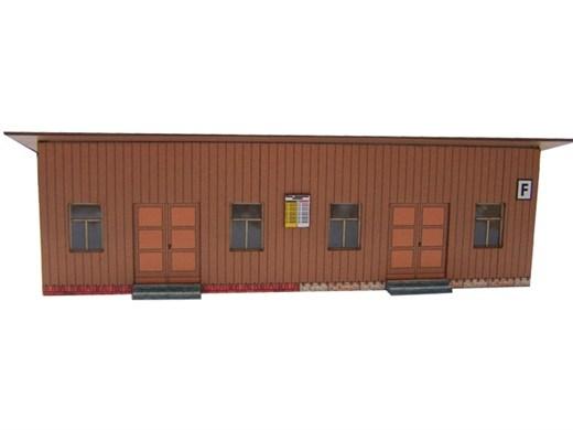 03-17-Z - Sächs. Einheitsbau  Wartehalle aus Holz