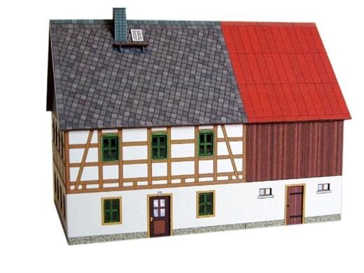 04-04-02-Z-B - FWH Erzgebirge m. Stall - Blechdach
