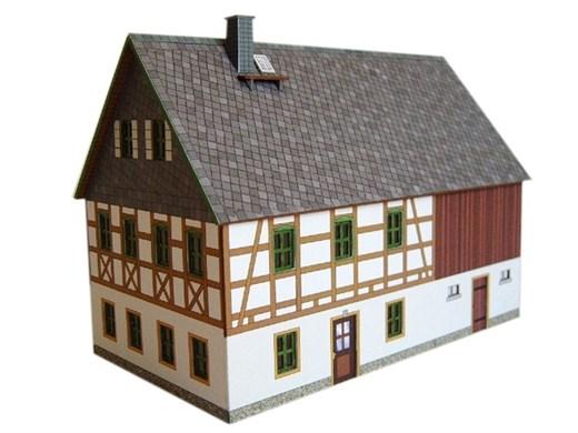 04-04-02-Z-S - FWH Erzgebirge mit Stall - Schiefer