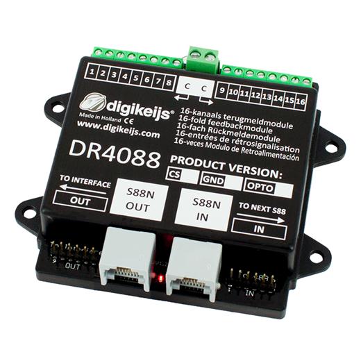 Digikeijs DR4088CS - (2 Leiter) 16-kanal Rückmelde
