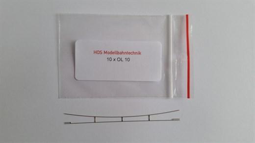 HOS OL 10 - Fahrdraht Neusilber 0,3 blank, 90-100
