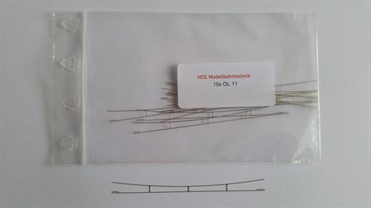 HOS OL 11 - Fahrdraht Neusilber 0,3 blank, 80-90 m