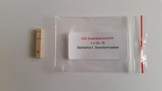 HOS OL 15 - Bohrlehre Buchenholz für Streckenmaste