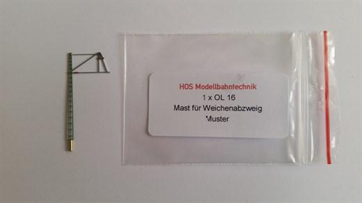 HOS OL 16 - Oberleitungs-Streckenmast für Abzweig,