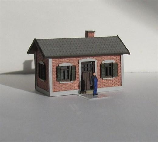 Laffont Z1601 - Nebengebäude Ziegelfassade Maße Lx