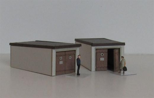 Laffont Z1901 - 2 Pkw-Garagen 50er Jahre Maße LxBx