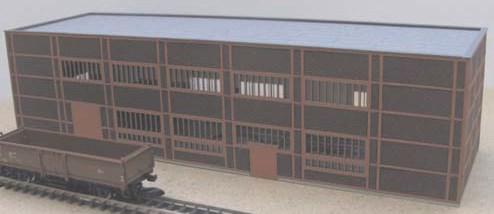 Laffont Z901 - Kohlenzechengebäude im Baustil der