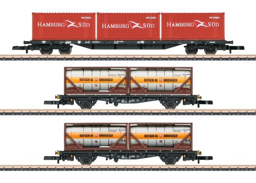 Märklin 82663 - Containertragwagen-Set DB AG