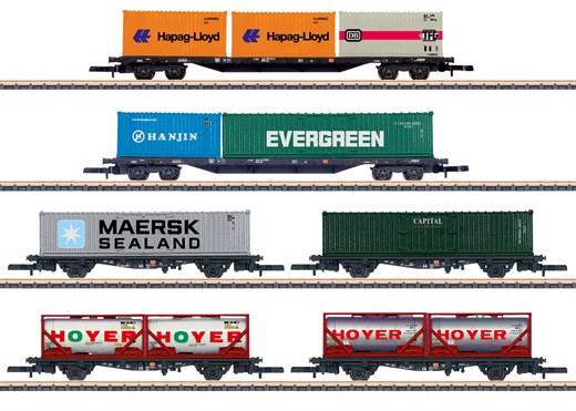 Märklin 82665 - Wagen-Set Containertransport