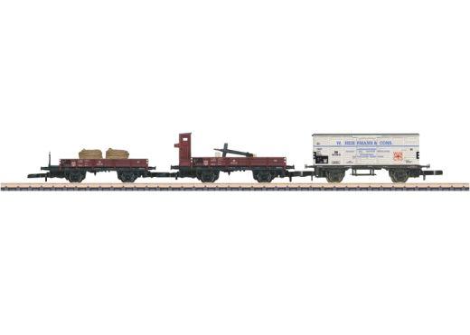 Märklin 86581 - Güterwagen-Set. Bestehend aus 3 ve