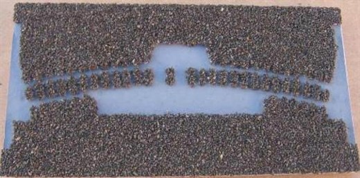 Merkur 203539 - Gleisbettung Märklin-Mini-Club Z (