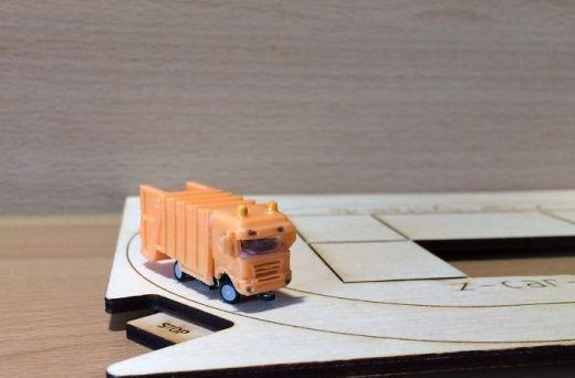 NoBa Modelle - 7005 Scania mit Müllsammler - orang