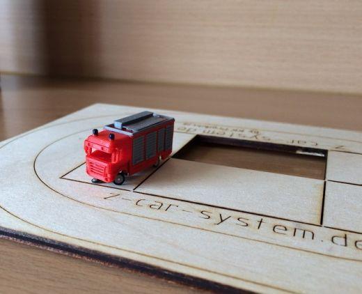 NoBa Modelle - 7104 Rüstwagen Feuerwehr - rot/grau