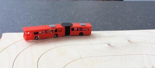 NoBa Modelle - 7151 Gelenkbus, MB O 405 G - weiss