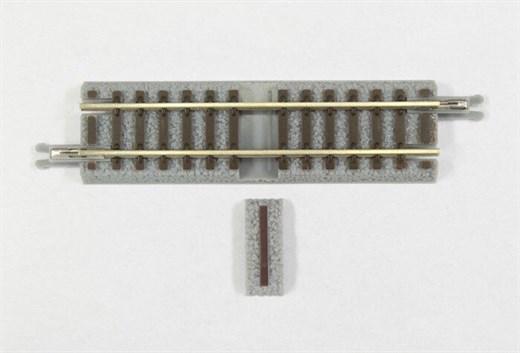 NOCH 7297024 - Gleis gerade, 55 mm, mit Anschlussb