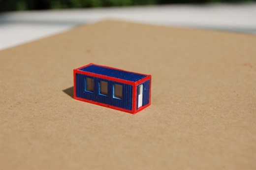 RATIMO 11011 - Wohncontainer, Bausatz 1:220 (3 Fen