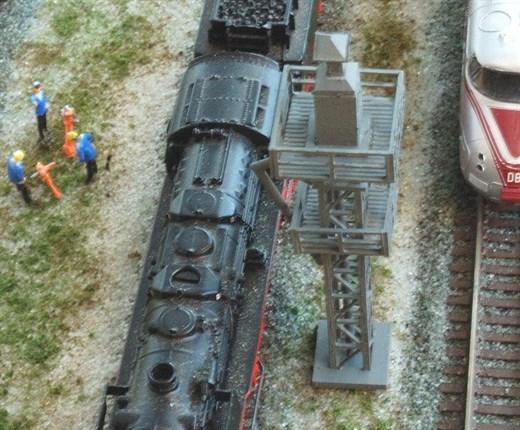 RATIMO 13002 - Besandungsturm für 1 Gleis in 1:220