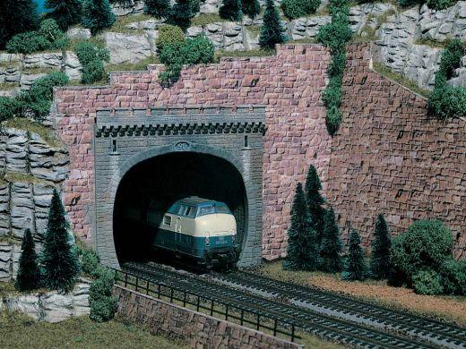 Vollmer 42502 - H0 Tunnelportal, zweigleisig,