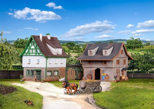 Vollmer 49540 - Z Bauernhaus mit Scheune und