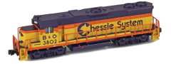 AZL 62522-1 Chessie GP38-2 B&O 3802