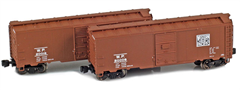 AZL 904385-1 WP 40 AAR Boxcar | 2-Car Set