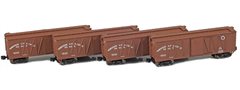 AZL 913110-1 40 NP Outside Braced Boxcar | 4-Car