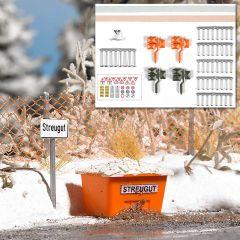Busch 1167 - Set Winter an der Straße H0