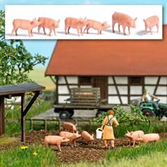 Busch 1172 - Sechs Schweine H0
