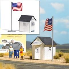 Busch 9729 - US Poststation H0
