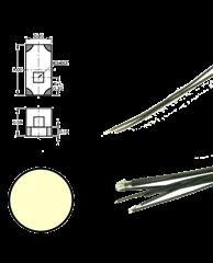 Digikeijs DR60049 - Warm White led on wire (5 piec