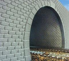 Merkur 604011 - Tunnelröhre N/Z, Quader Mauerwerk,