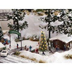 Noch 43810 - Weiße Weihnacht, Christbaum b