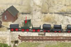 Saller 22602 - Feldbahnlore als Plateauwagen grau