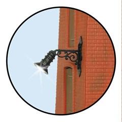 Viessmann 9076 - 0 Wandlaterne, LED warmweiß