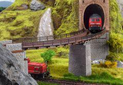 Vollmer 42547 - H0 Trogbrücke, gebogen