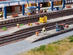Vollmer 43558 - H0 Gepäckbahnsteig, sechsteil