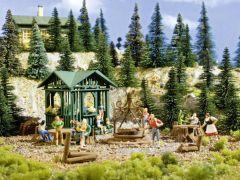 Vollmer 43606 - H0 Grillplatz mit Hütte