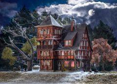 Vollmer 43679 - H0 Villa Vampir mit Farbtable