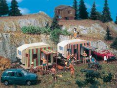 Vollmer 45145 - H0 Campingwagen, 2 Stück